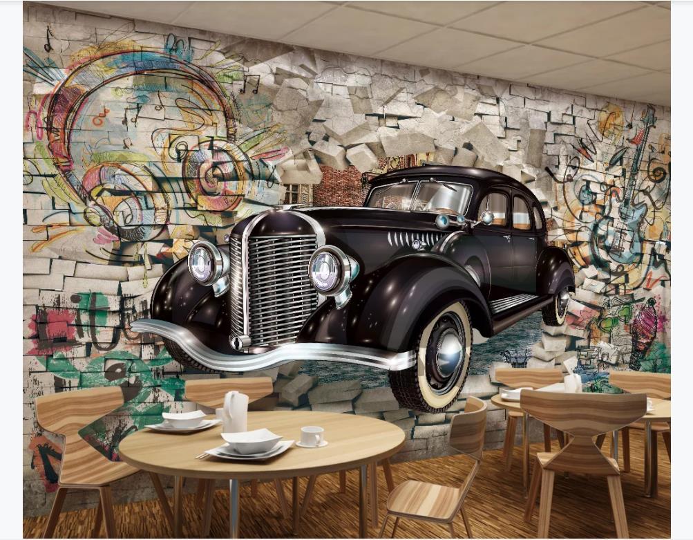 Papier peint toile Oldtimer Voiture Rétro Vintage-Garage papiers peints photos 10518v8