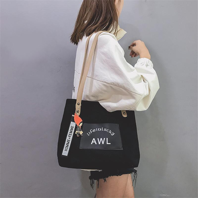 Women Canvas Handbag Fashion Designer Ladies Letter Crossbody Messenger Shoulder Bag Female Fashion Purse Sac A Main SS7382 (8)