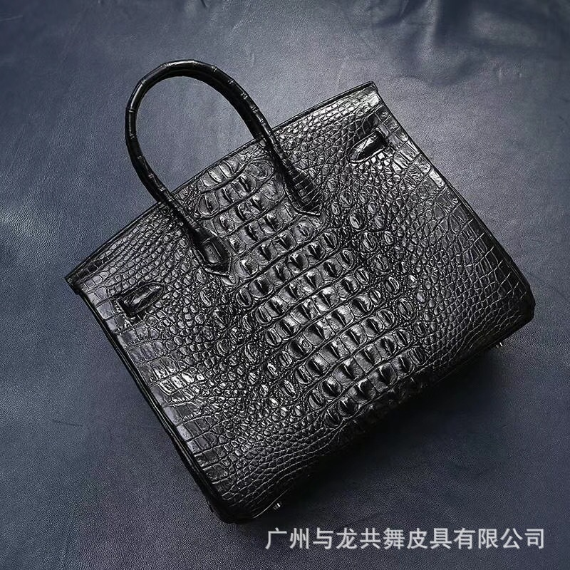 Elegant2019 Bone Crocodile Domestic Skin Women's Handbag Genuine Leather Woman Ma'am Hand Bag