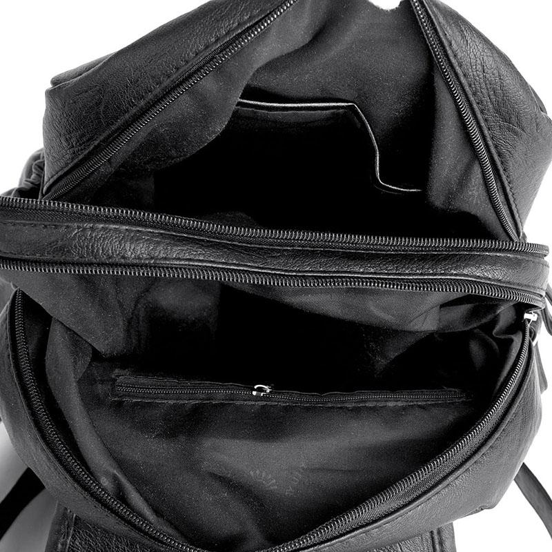 2018 Women Backpack High Quality Leather Fashion School Backpacks Female Feminine Casual Large Capacity Vintage Shoulder BagsMX190822