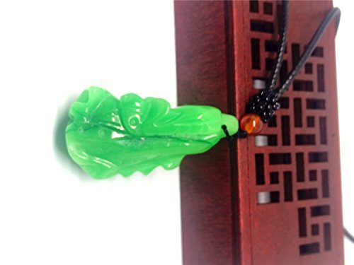 Natural Hand-carved Green Cabbage Jade Pendant Jadeite Necklace Jewelry Gift Gemstone Wholesale