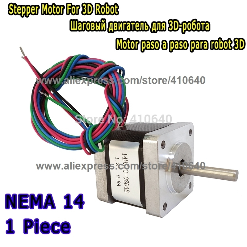 Nema 14 Stepper Motor 18Ncm 0.8A 34mm 4 wire 3D Pinter CNC Robot Makerbot Reprap