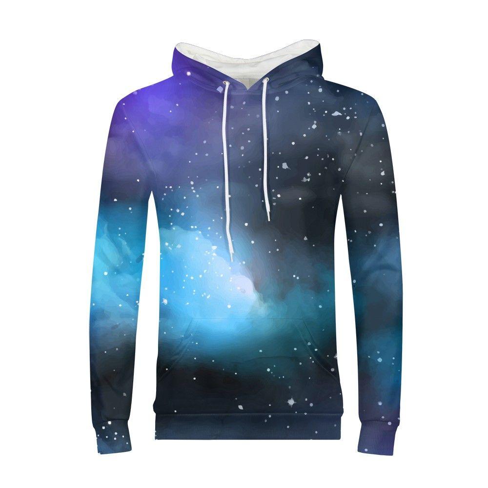 Unisex Galaxy Wolf Lion 3D Print Hoodie Sweatshirt Jacket Coat Tracksuit Tops UK