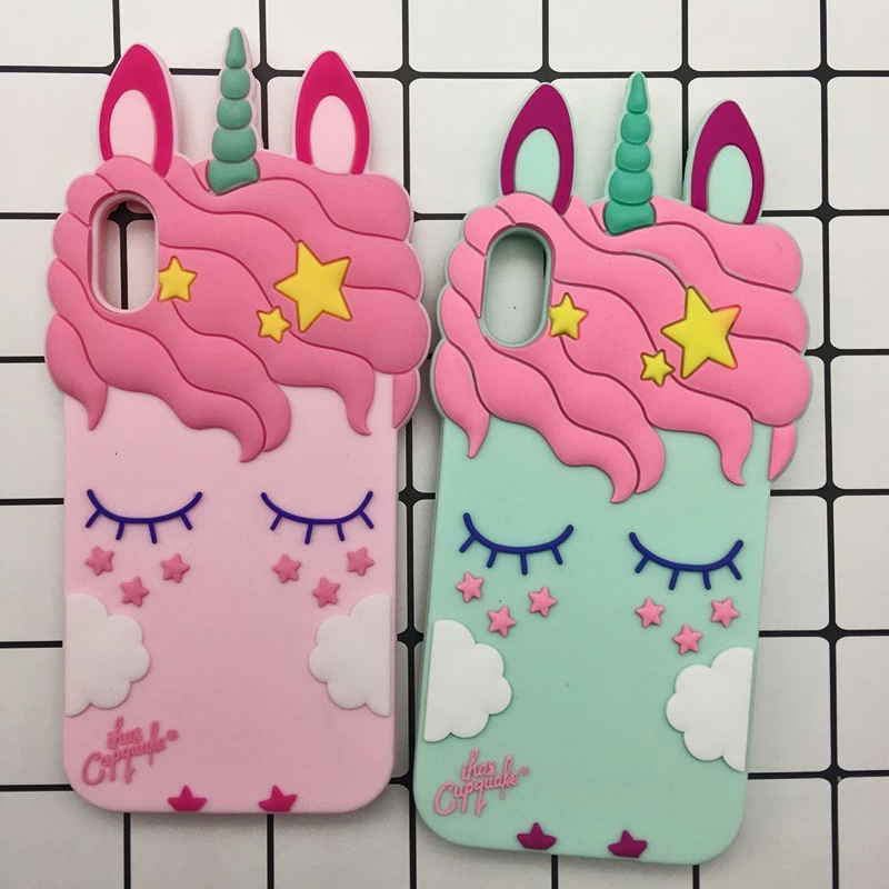3D Cute Cat Unicorn Dog Rubber Case For iPhone 7 6 6S Plus 5s SE Soft Silicone Cartoon Cover Back For iPhone 8 7 6S 5S X Capa (29)