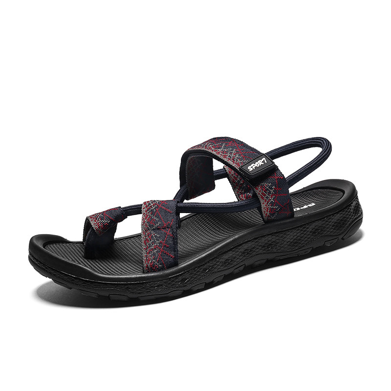 Standard Shoes Summer Beach Holiday Casual Outdoor Sports Slipper Breathable Sandals for Men Slip on Style Fabric Straps Elastic Band Handmade Durable Shoes Leisure Shoes Fashion Shoes