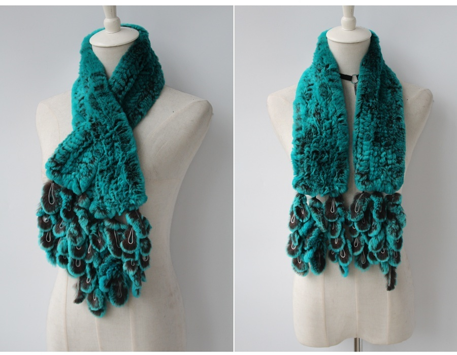 knitted rabbit fur scarf rabbit (8)