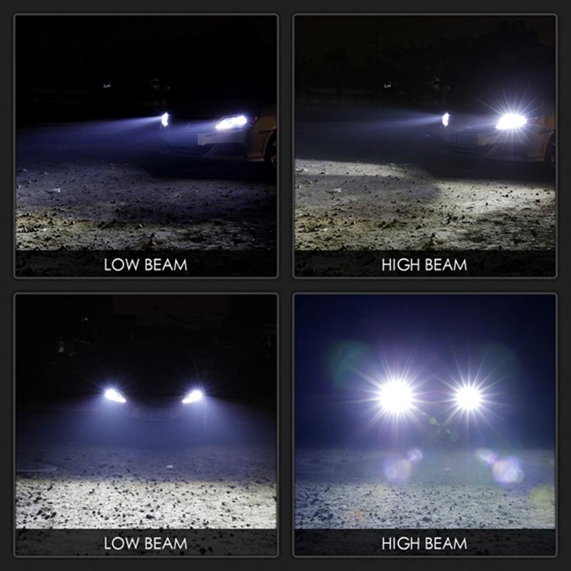 VicTsing 2Pcs H13 9008 200W 20000LM LED Headlight Kit Power Bulbs 6000K White H13 LED Bulb Car Light DC 12V 24V Auto Headlights (3)