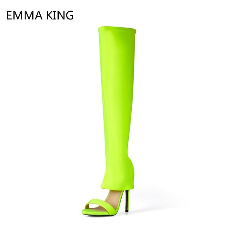 Femme Emma Designer Spirale Strass Talon Haut Sandales