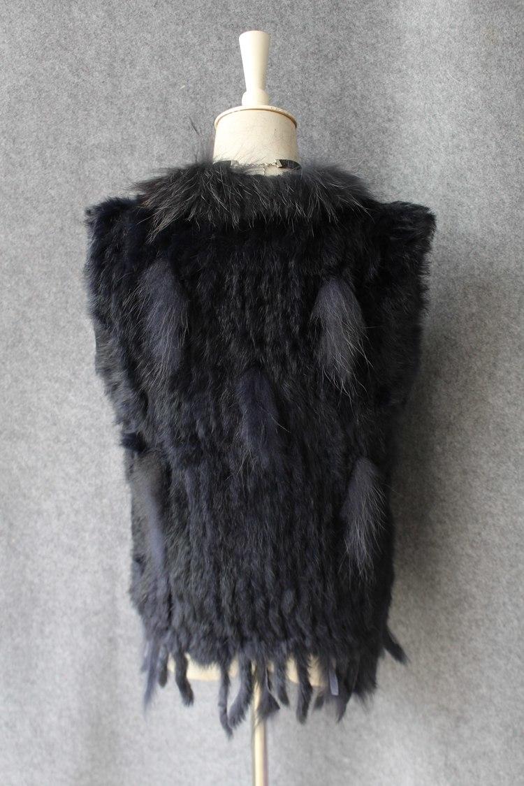 genuine real rabbit fur vest with raccoon fur collar (33)