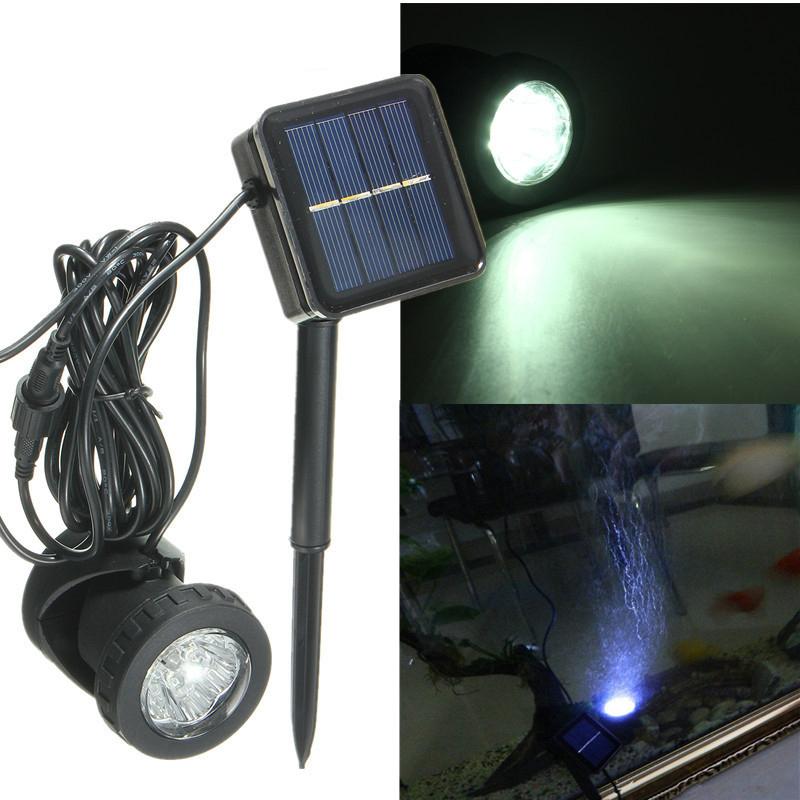 Solar Water Pond Pool Pump Underwater Spotlight 6LED Light Set Projection Garden