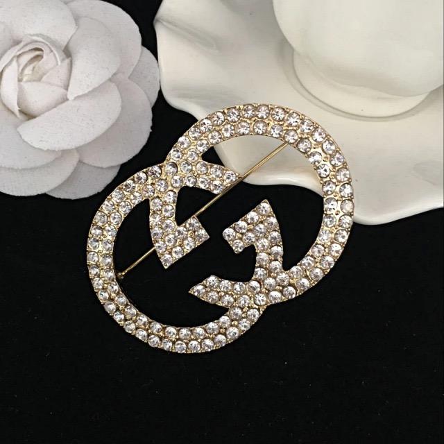 Or-1pi/èce Haptian Charme Cristal plaqu/é Or Design Cristal Strass Broche Broche Bijoux Cadeau