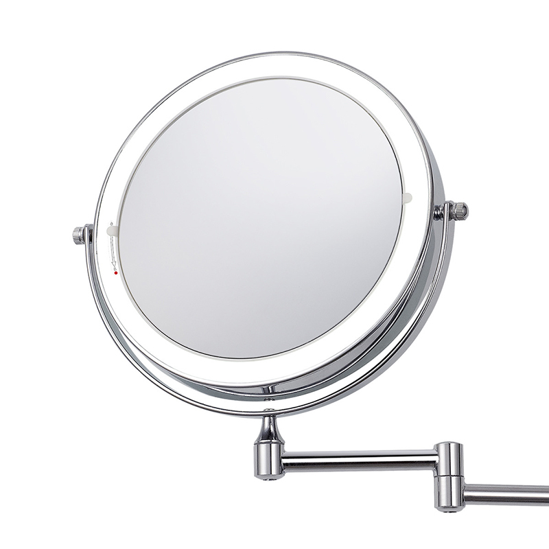 8 inch Wall Mounted Led Makeup Mirror 10X Magnifying Touch Bright Adjustable Bathroom Wall Mirrors Double Sided Vanity Mirror 05