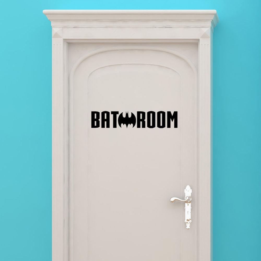 Deco Porte Salle De Bain vente en gros autocollants muraux porte de salle de bains