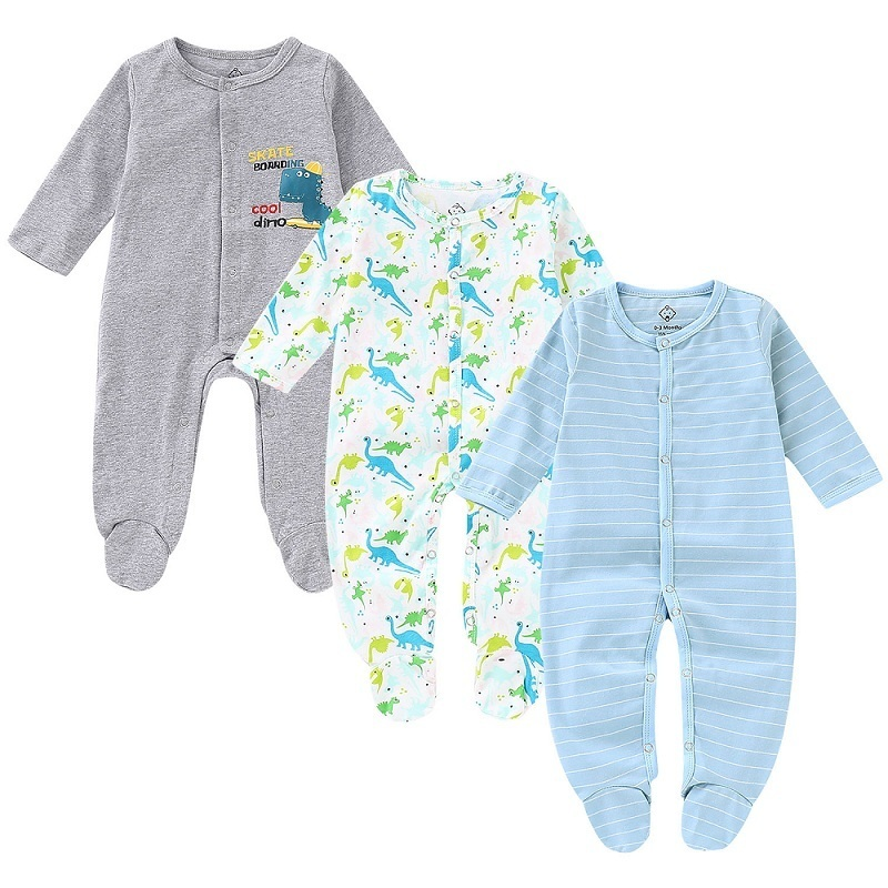3PCS Newborn Baby Boy Girl Rompers 1122