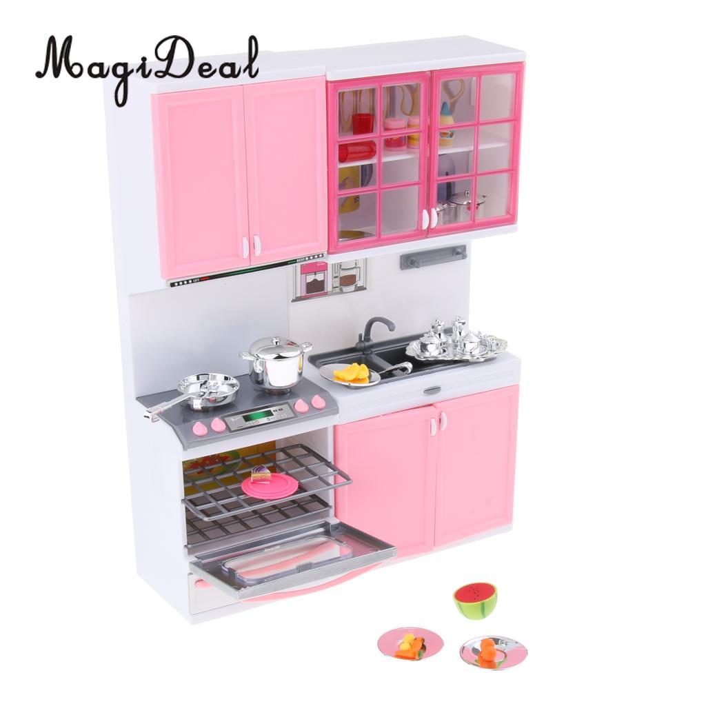 Mini Kitchen Set Kids Pretend Play Cooking Tools Set Plastic Cooking Pot Pan Accessories Kitchen Toy