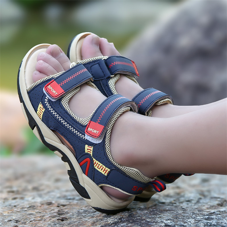 2020 Summer Boys Sandals Kid Sandals Children Shoes Cut-outs Rubber School Shoes Breathable Open Toe Casual Boy Sandal (16)
