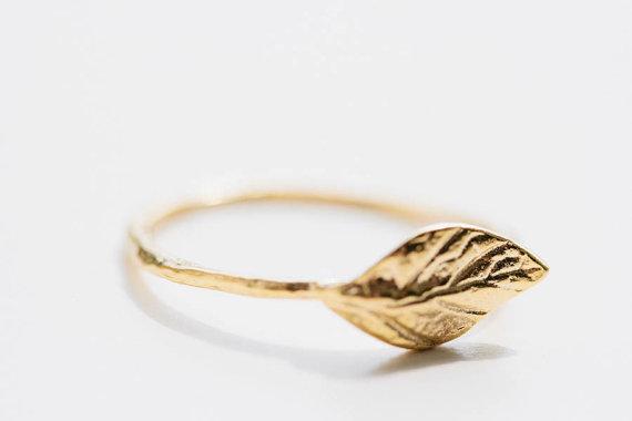 2013 new arriving Copper leaf ring vintage ring Textured ring