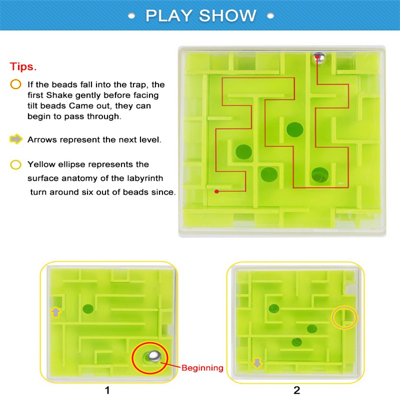 3d Mini Speed Cube Maze Magic Cube Puzzle Game Cubos Magicos Learning Toys Labyrinth Rolling Ball Toys For Chilren Adult Aq1563