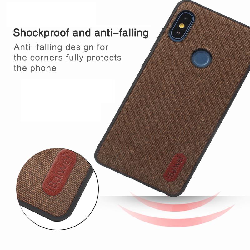 Luxury Cloth Texture Soft Case For Xiaomi Redmi Note 5 Ultra-thin Silicone Phone Case Redmi Note 5 6 Pro Global Version Case