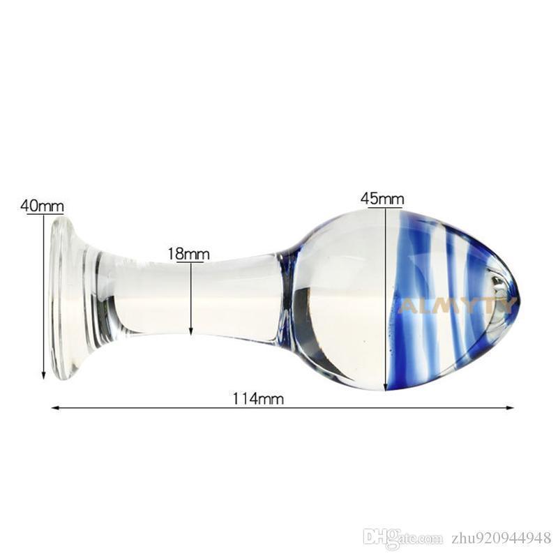 Smooth Clear Glass Anal Plug Buttplug 45mm Diameter Anal Balls Anus Dilator Stimulator G Spot Butt Plug Sex Toys For Woman
