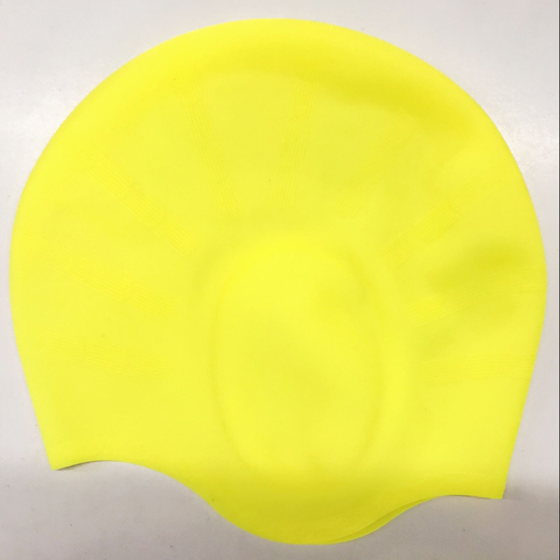 women Silicone Swimming Cap With Ear Cover