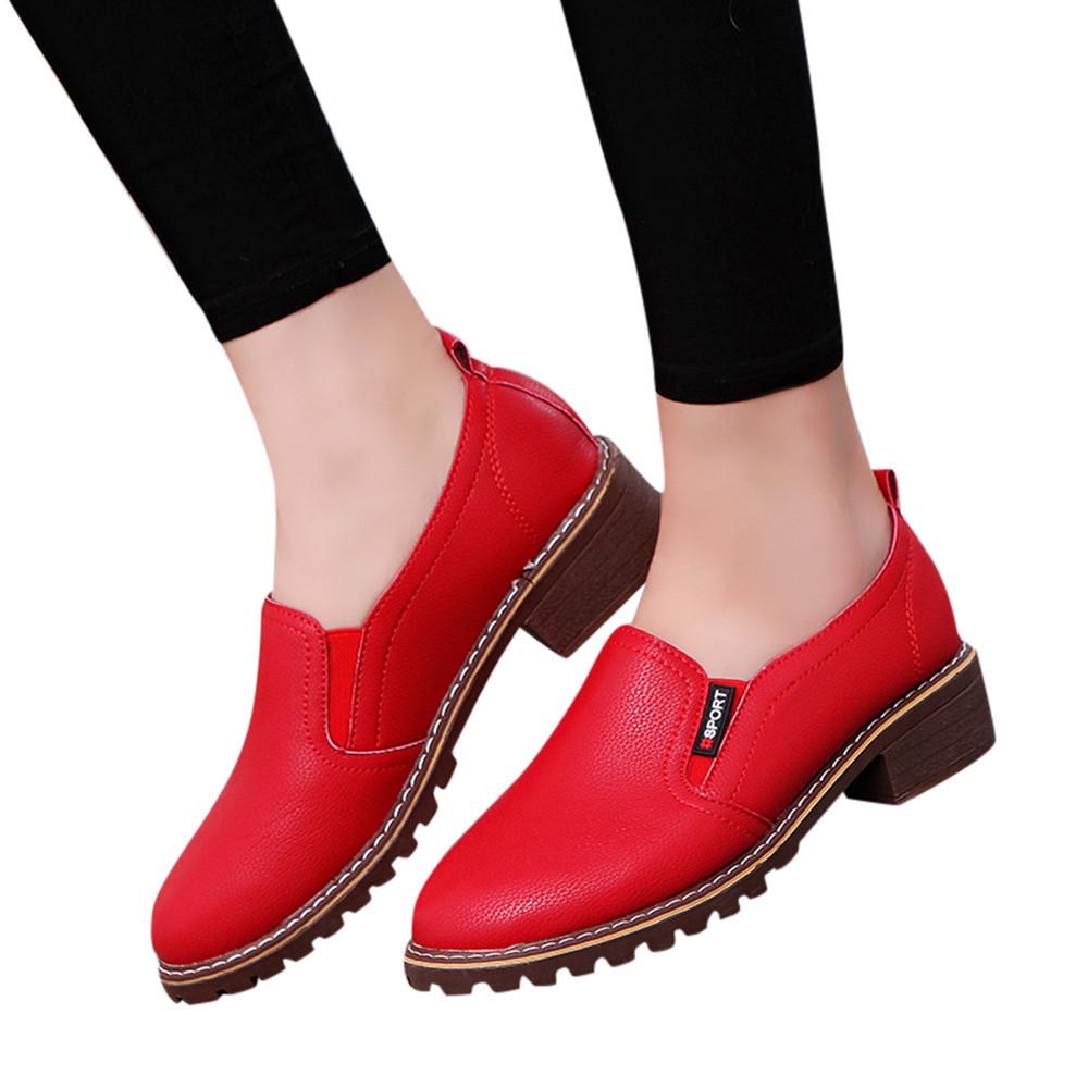 Kleid Schuhe Muqgew Party Kleid Damen Damen Mode Knöchel Oxford Leder Casual Kurze Stiefel