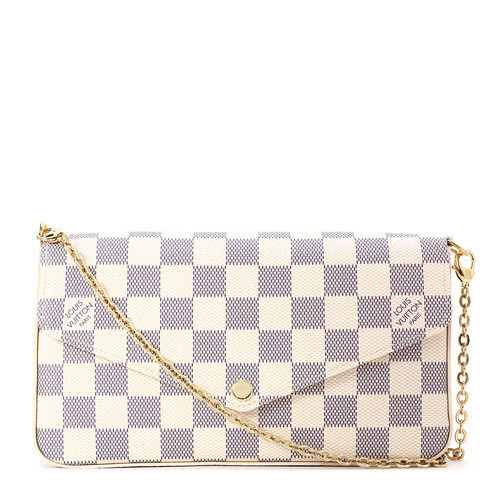 / white checkerboard three-in-one crossbody bag N63106, out of stock white