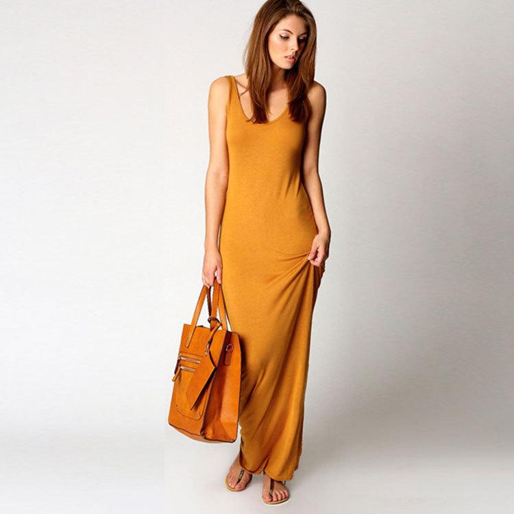 2018 Estate vestito aderente donna elegante Sexy Fashion Club Gilet Canotta abiti da festa abiti Maxi abito lungo plus size robe