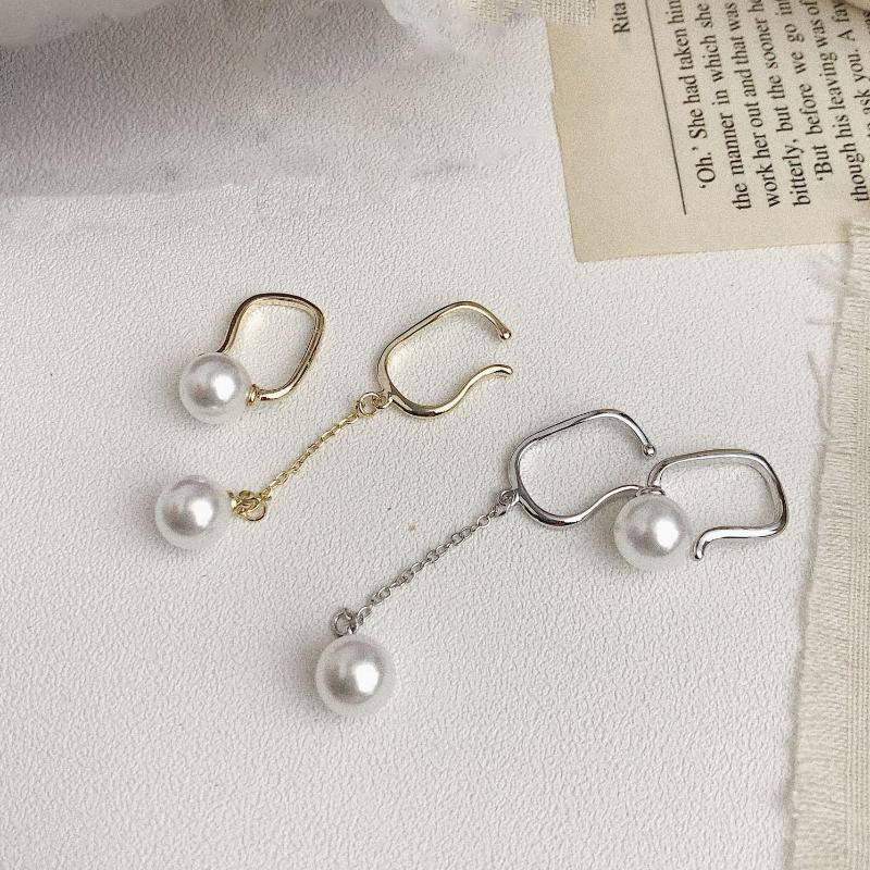 Korean 3 CRYSTAL FINE Pearl earings Gold Filled Femme de gros clous d/'oreilles