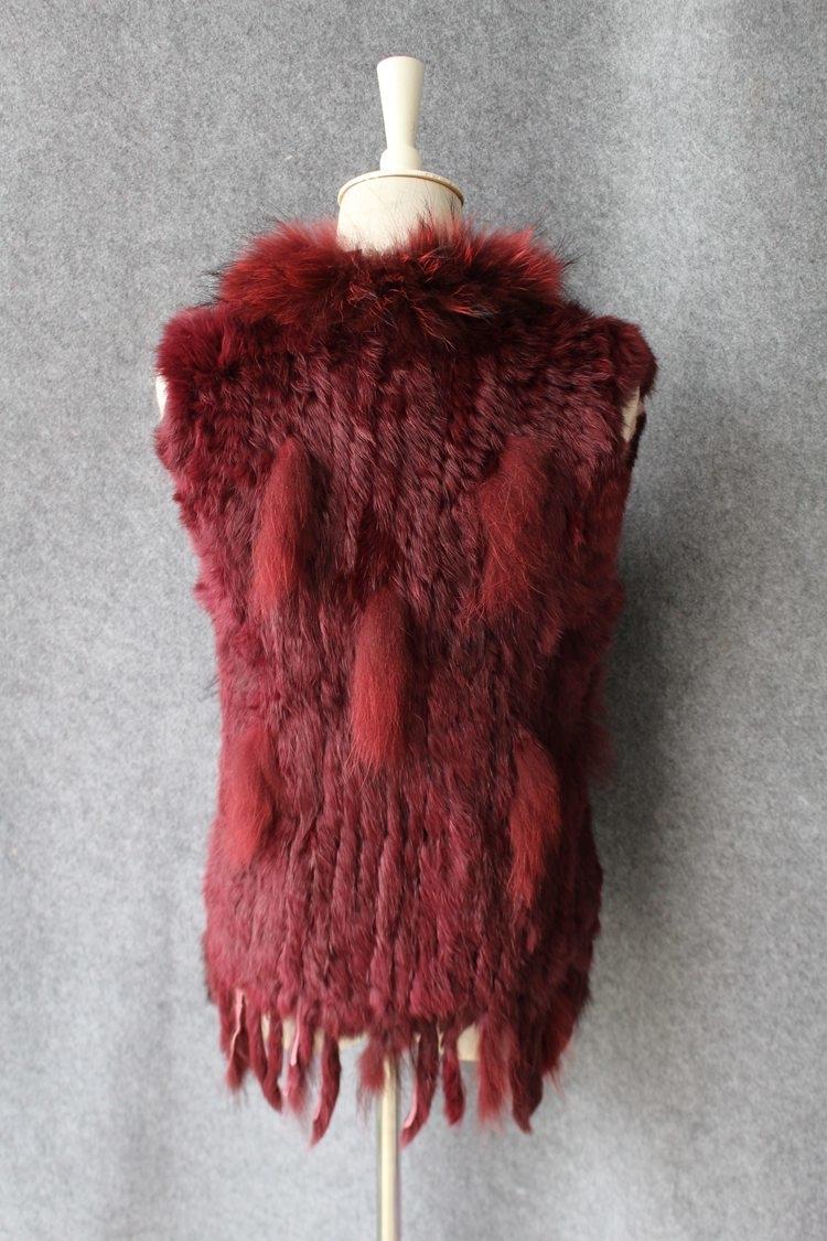 genuine real rabbit fur vest with raccoon fur collar (31)
