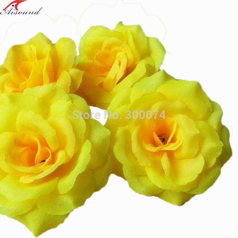 Yellow rose flowers