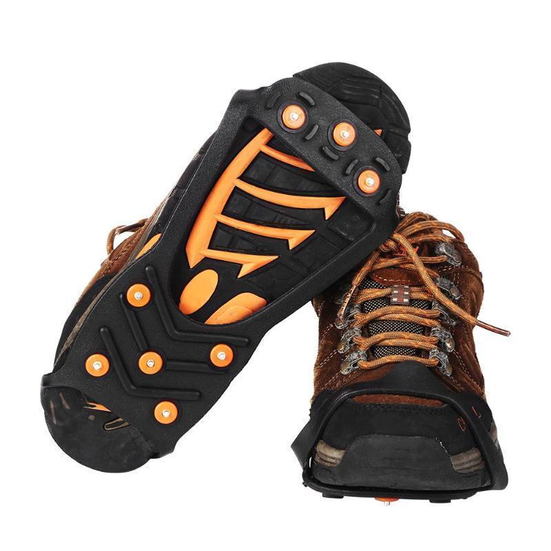 8 Winter Anti Slip Ice Crampons Shoes Snow Walker Climbing Hiking Travel