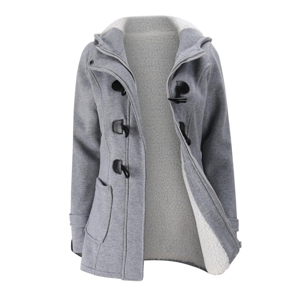 Ladies Grey Parka Coat