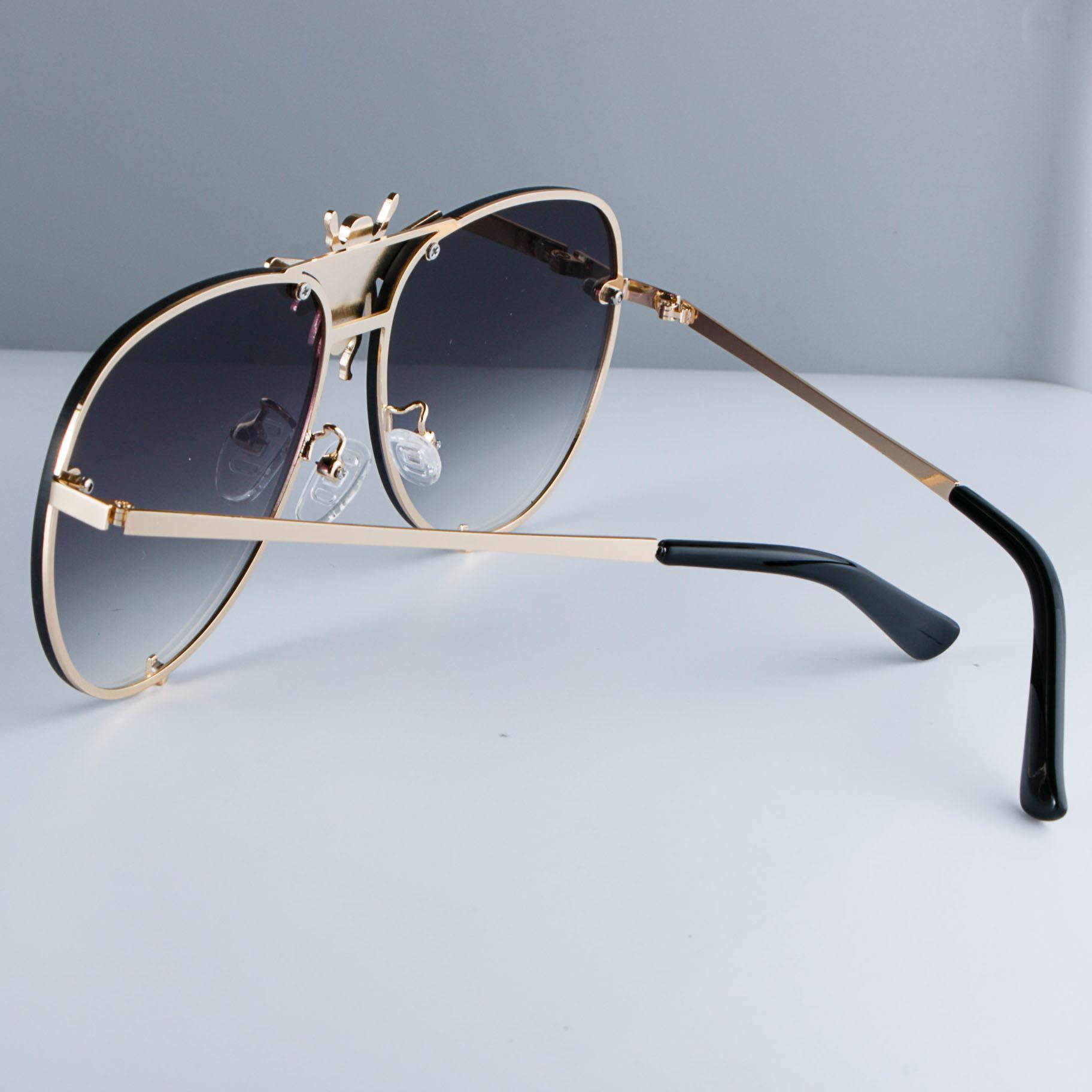 Lüks Arı Pilot Güneş Metal Çerçeve Degrade Lensler UV400 Retro Erkekler Kadınlar Shades 47850 MX190723