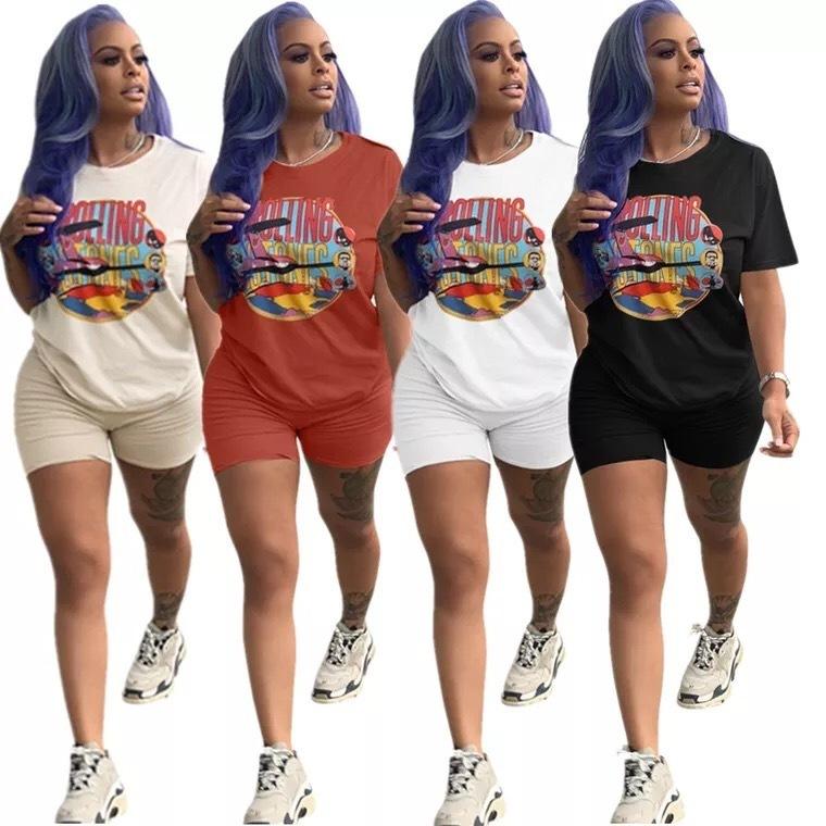 2019 Spring Summer Women Tracksuit Short Sleeve T-shirt Shorts Leggings Fashion Suit Summer Outfit Sportswear Jogger Set