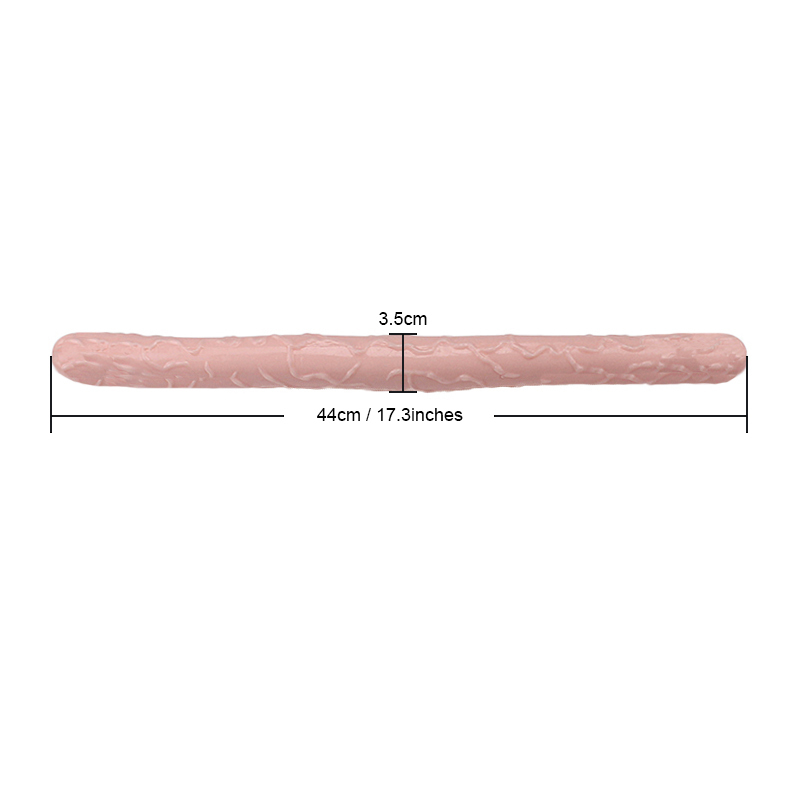 17 Inch Long Flexible Jelly Double Dildo Women Vagina Anal Stimulate Double Ended Dildo Lesbian Penis Sex Products No Vibration Y190711