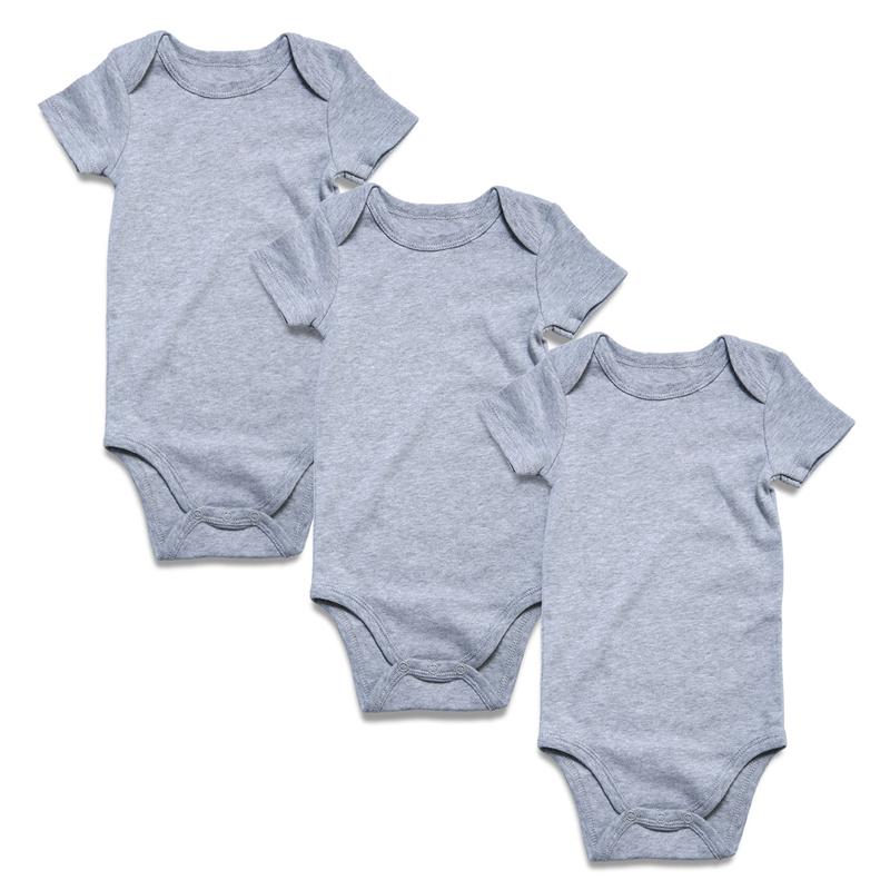 gray baby bodysuit short sleeve