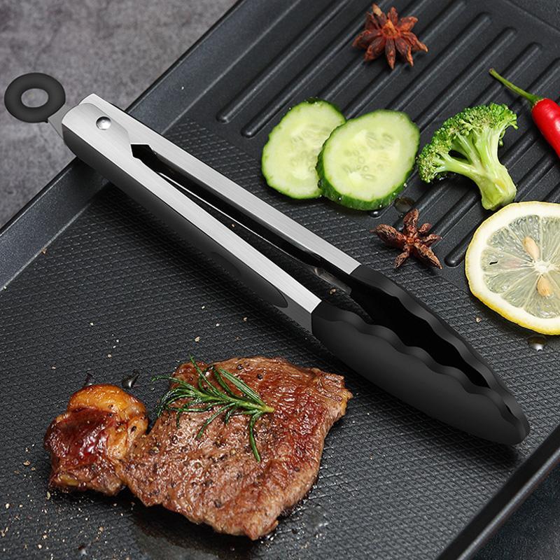 2Pcs BBQ Tongs Basting Brush Set Silicone Oil Brush Kitchen Tongs BBQ Grill Food Tongs Barbecue Tongs Oil Sauce Brush BBQ Tools (7)