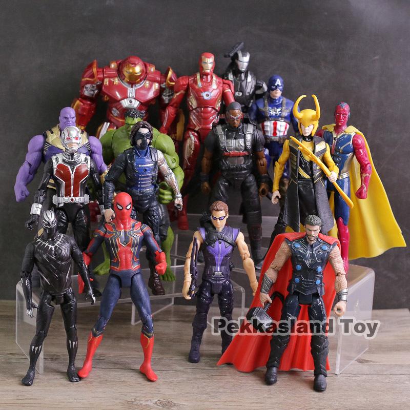 Мстители Бесконечность Война Фигурки Игрушки Железный Человек Капитан Америка Халк Тор Танос Человек-Паук Локи Черная Пантера Халкбастер Y190604