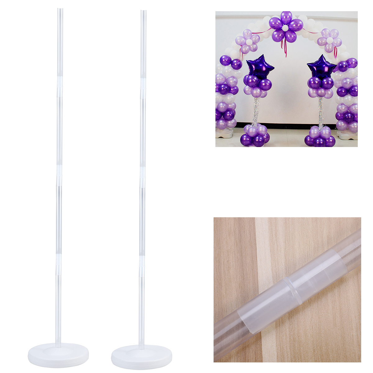 top Balloon Arch Frame Column Stand Builder Kit for Birthday Wedding Party Decor