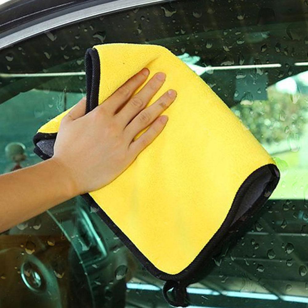 Microfiber Towel Car Wash DryingTowel Thickening Double Sided Velvent Hemming JA