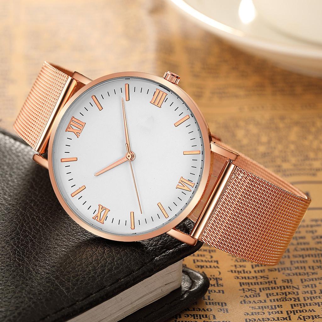 Fashion Men's Women Sport Stainless Steel Case Band Quartz Analog Wrist Watch Relogio Masculino Watch Men Reloj Hombre