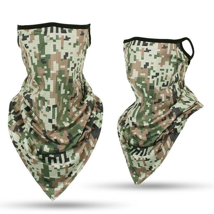 Gamecock Camo Gamecock Camouflage Neck Gaiter Mask Cooling Summer Face Cover Scarf Breathable Bandana Seamless Balaclavas Headband for Dust Outdoors Fishing Sports Running