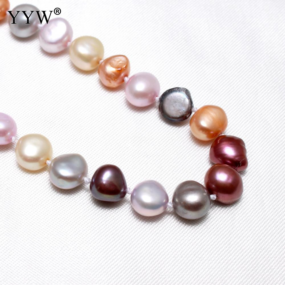 8-9mm Mixed Color Cultured Potato Freshwater Pearl Necklace for Women 8-9mm Wedding Birthday Gifts Strand 16/18/20/28/48inch