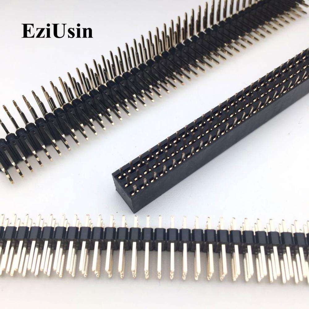 5 Piece Socket Strip 2x10Pin SMD Socket IC 1,27mm Pitch-Angled