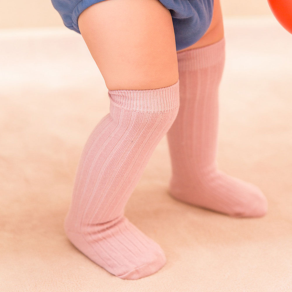 Baby Kids Toddlers Girls Knee High Stockings Tights Plaid Leg Warmer Stockings For Age 0-8 Casual