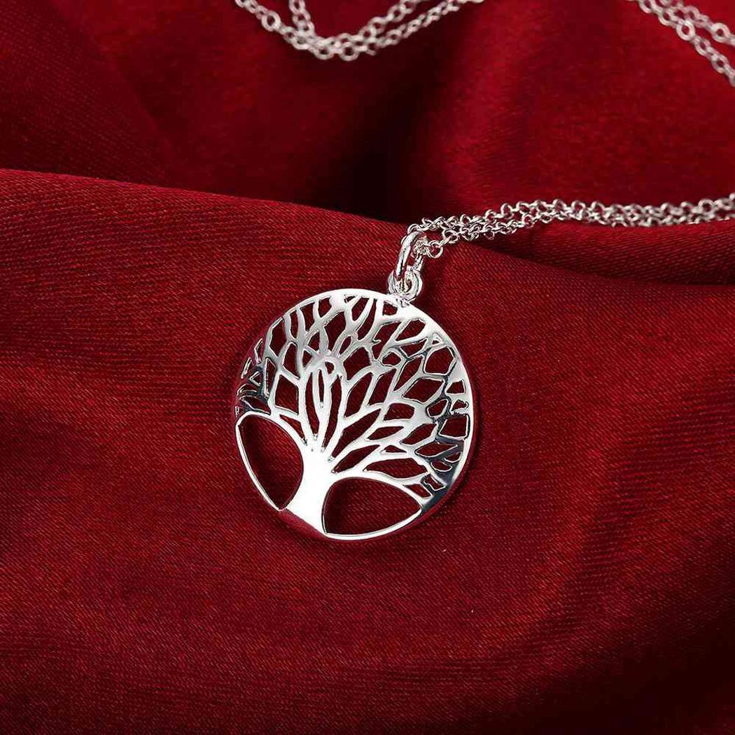 Nuove donne Jerwely Wishing Tree Hollow Out Collana con ciondolo Collana con ciondolo