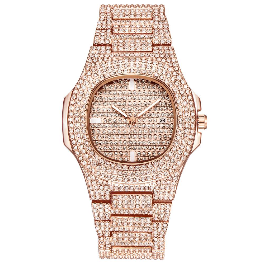 drop shipping gold diamond watch men hot fashion mens quartz watches (13)