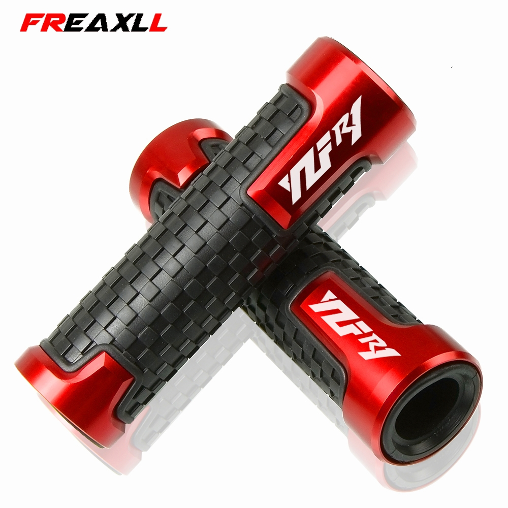 """Spiked Motorcycle Hand Grips Set for 7//8/"""" Inch Handle Bar R1 Logo YZF-R1 YZF R1"""