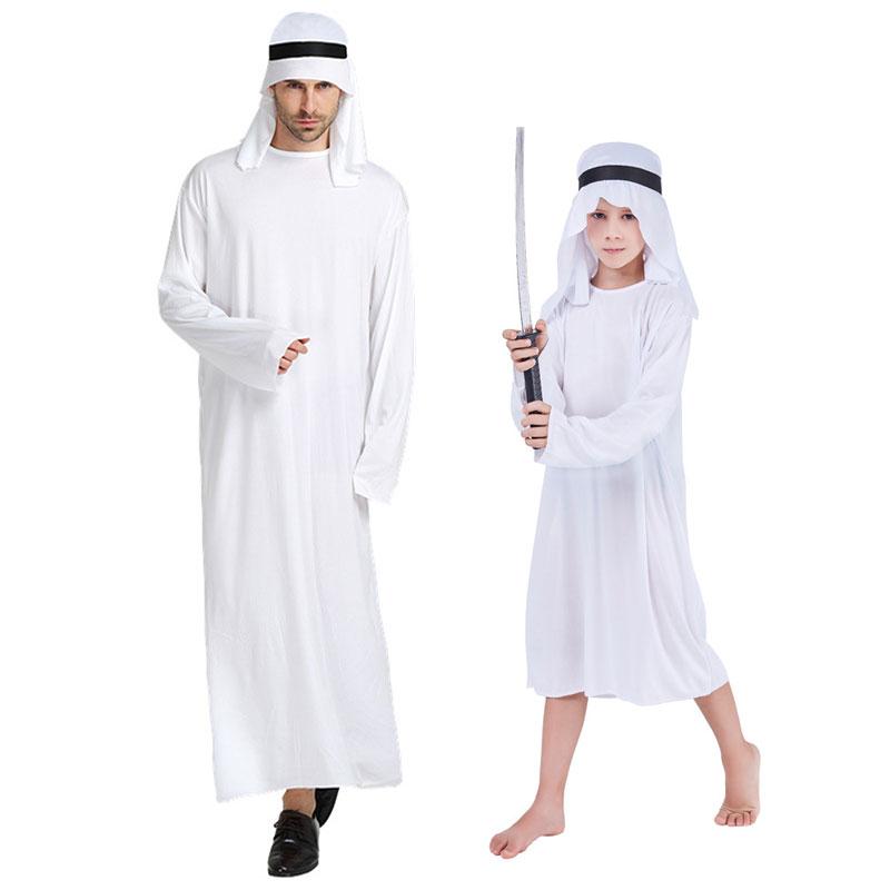 Mens White Arab Sark Fancy Dress Costume Saudi Arabia Dubai Party Outfit
